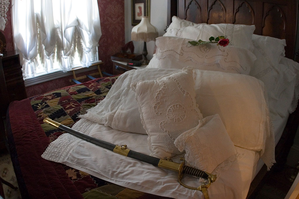 General's Sword on bed in Jeb's Room