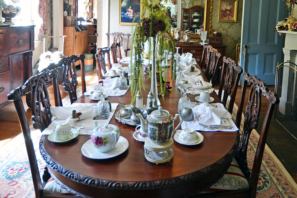 Dining Room with tea placements